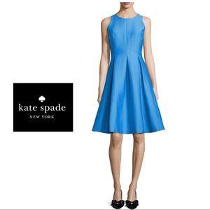 Kate Spade Yarn Alice Blue Fit Flare Dress